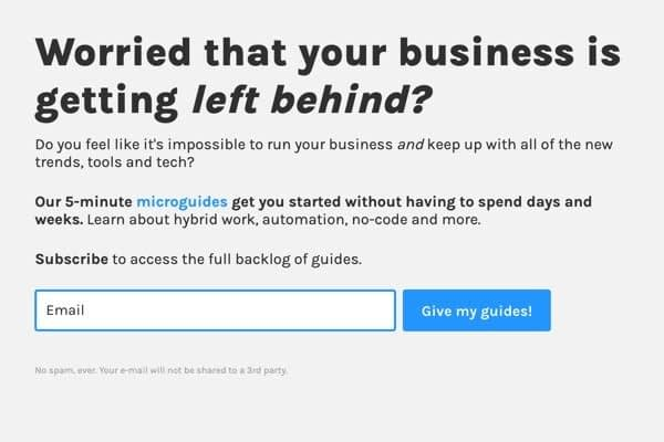 <p>5-minute microguides for business owners to easily learn new trends, tools and tech.</p>