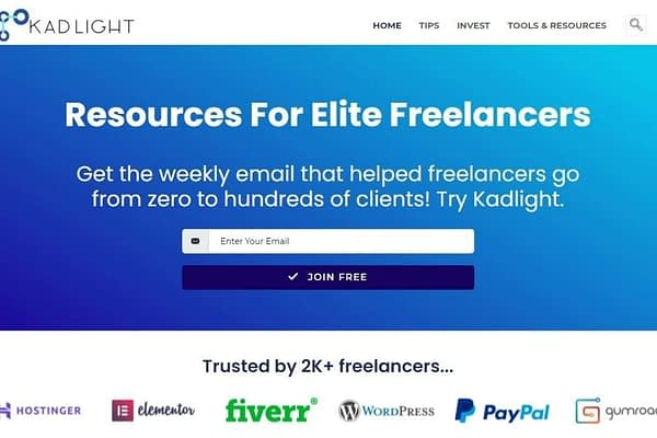 <p>Get the weekly email that helped freelancers go from zero to hundreds of clients! Try Kadlight.</p>