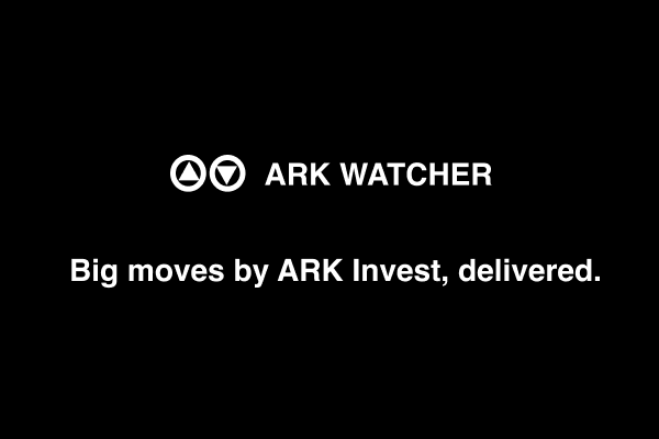 <p>Track biggest moves made by ARK Invest across all their active ETF funds</p>