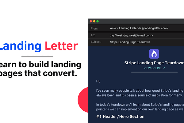 A weekly teardown of landing pages that convert.