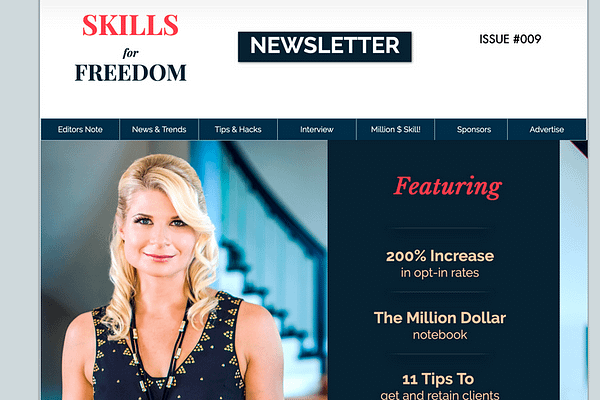 Skills For Freedom Newsletter is a newsletter for small business, and home based entrepreneurs.