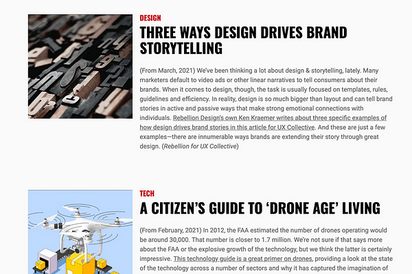 Get The Links, the weekly overview of the most interesting stories in design, UX, tech and marketing from the folks at Rebellion Design Co.