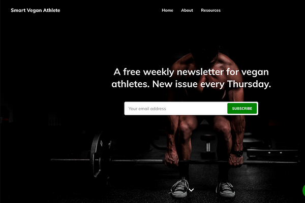 A free weekly newsletter for vegan athletes. New issue every Thursday.