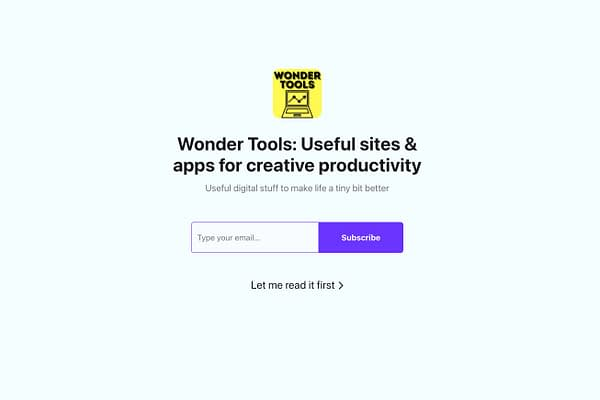<p>Useful digital sites and apps to make life a tiny bit better, from Roam and Notion to Coda and Tally — each week you get not just links, but learn how and why to use something, with examples</p>